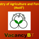 www.moaf.gov.bt Job Vacancy announcement 2019
