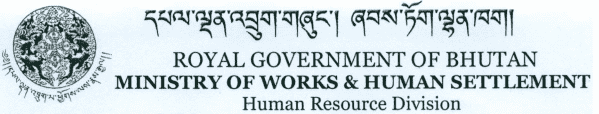 MoWHS, Bhutan Job Vacancy 2019