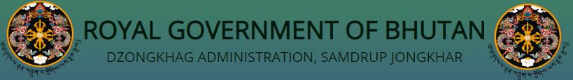 www.samdrupjongkhar.gov.bt Vacancy 2021