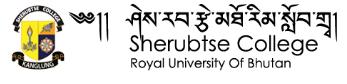 www.sherubtse.edu.bt Vacancy 2021